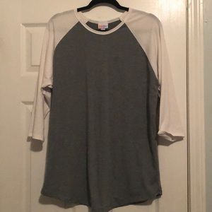 BNWOT XL gray and white LuLaRoe Randy